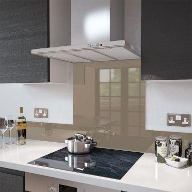 Cappuccino- Colour Toughened Glass Splashback 60cm x 75cm