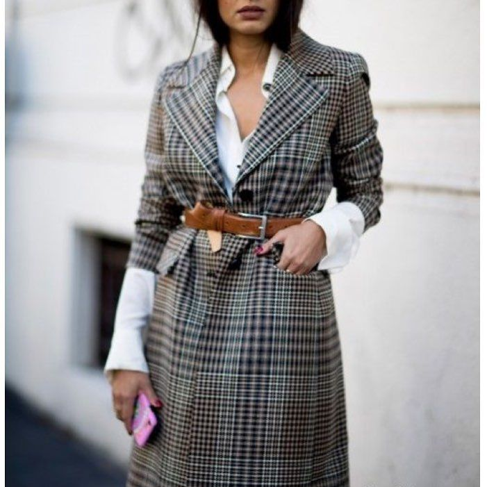 Belted plaid