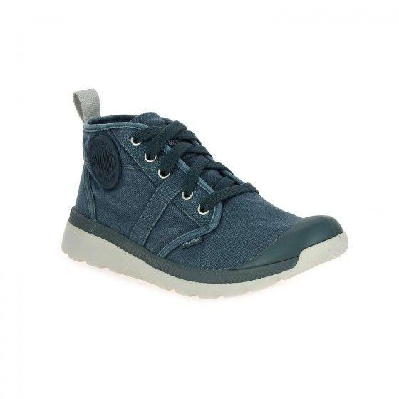 Baskets montantes bleu PALLADIUM PALLAVILL HI - Bessec-chaussures.com