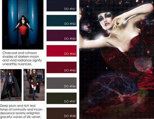 women's contemporary market fall winter f/w 2012 2013, color trends, dark illusion detail