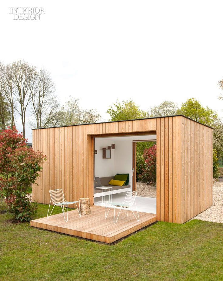 Firm: Filip Janssens.   Site: Aalst, Belgium.   Idea: Tom Lierman Office of Architecture and Interiors designed Filip Janssens a barnlike residence, and Janssens added a small garden pavilion with an exterior clad in larch planks. The 110-square-foot interior, fully insulated, comprises a tool shed and an airy garden room.