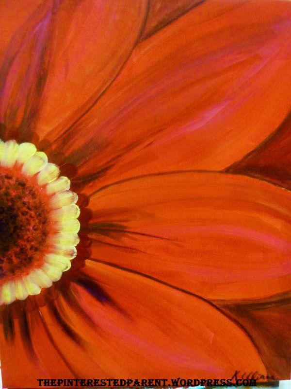 DIY Canvas art - I LOVE macro flower art!