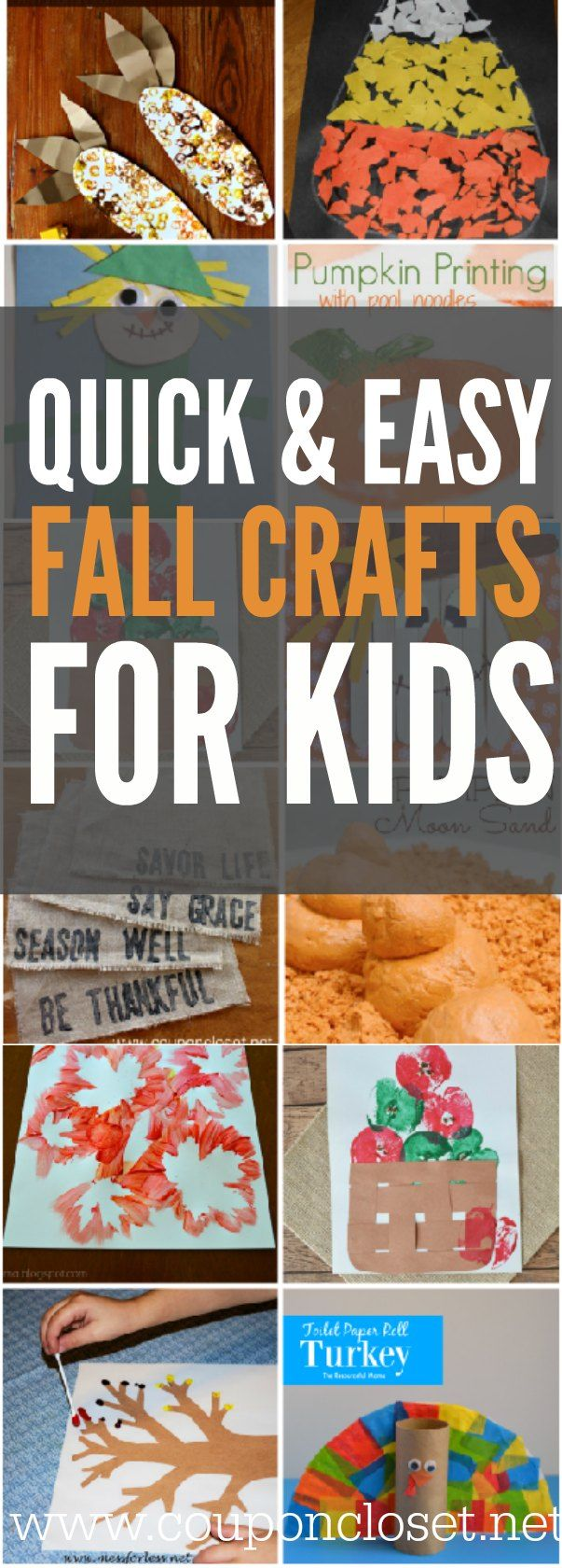 Over 15 of the best Fall Crafts for Kids - Quick and Easy Fall crafts for toddlers - Fall Art Projects for Preschoolers and more!