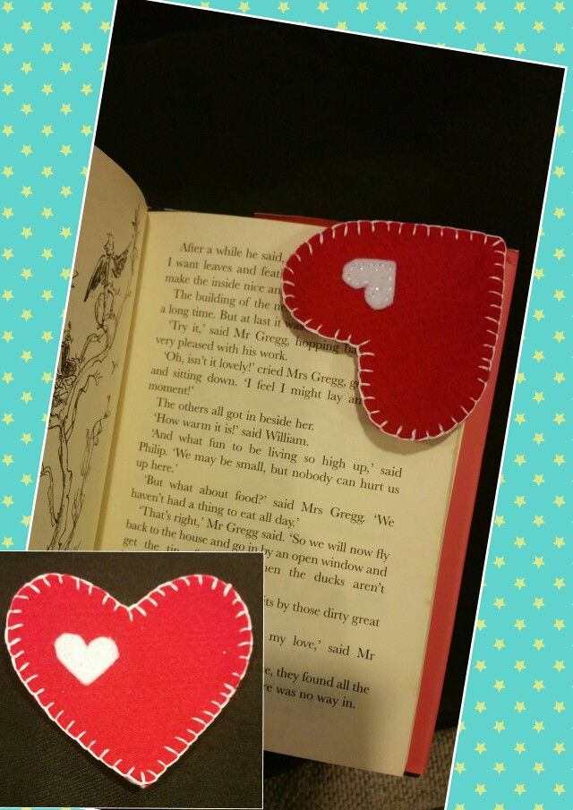 Felt bookmark - love