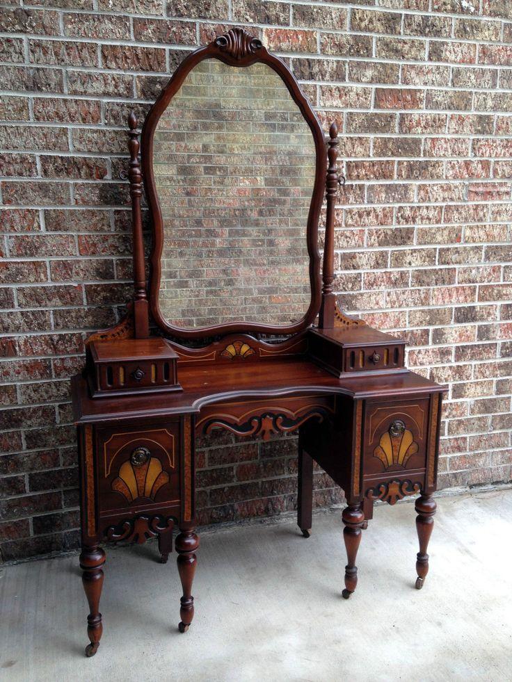 Antique Bedroom Vanity Makeup Dressing Table Desk w Gorgeous Mirror Ornate - Best 25+ Antique Makeup Vanities Ideas On Pinterest Vintage