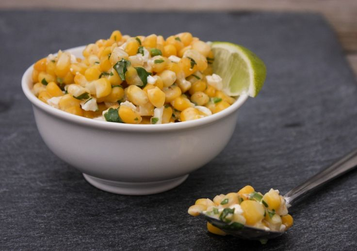 Mexican Street Corn Salad - Elotes , Mexican street corn salad, how to make mexican street corn salad, perfect side dish for Cinco de mayo Recipe here: http://www.sweetphi.com/mexican-street-corn-salad/