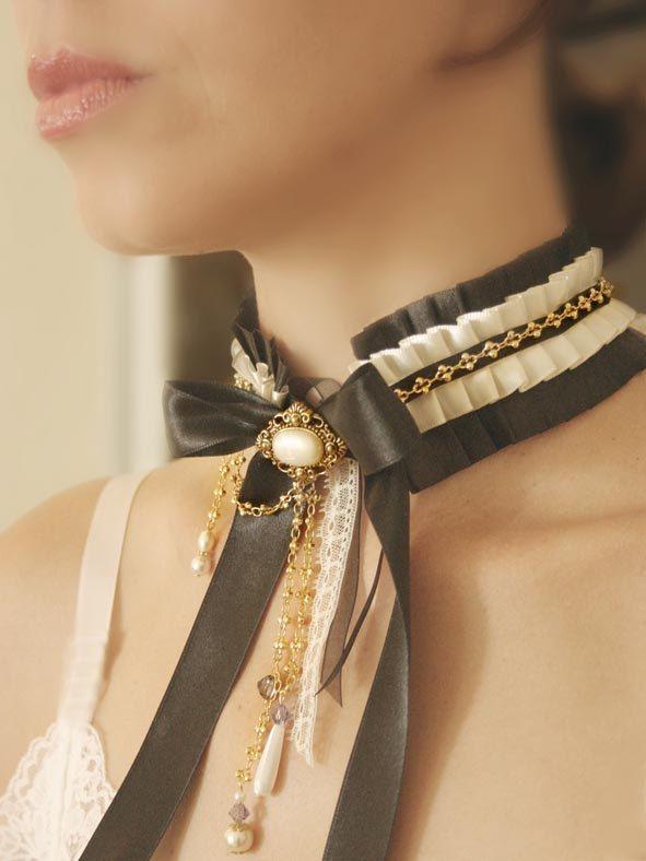 GÉRALDINE  ruffled collar. $89.00, via Etsy.