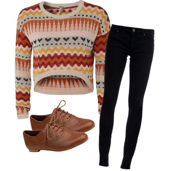 """""""Aztec Tribal Patterns Oxford Outfit"""" by artsybubbles on Polyvore"""