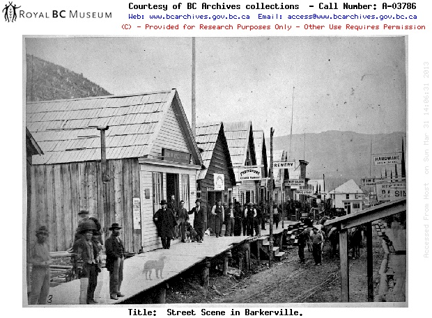 The Cariboo Gold Rush Barkerville Section. Linked to Barkerville.ca website.