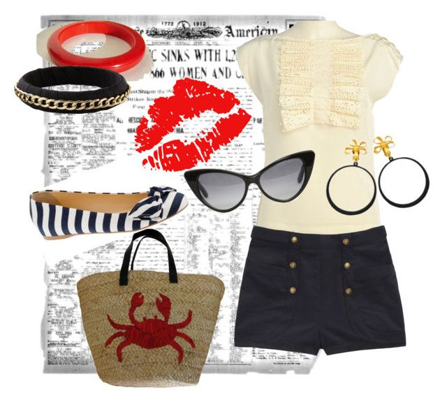 Thought you were my lobster, but you're just a crab. by dmlougheed on Polyvore featuring polyvore fashion style Ted Baker Opening Ceremony J.Crew Felix Rey Chanel Old Navy Tom Ford clothing