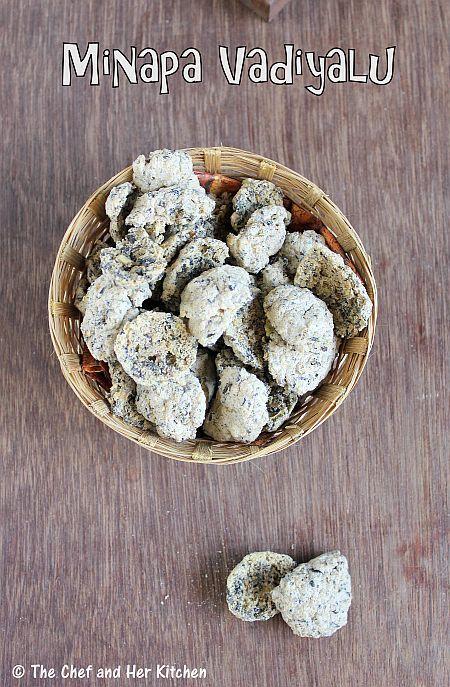 Minapa Vadiyalu | Urad dal Fryums | Sun-dried Fryums