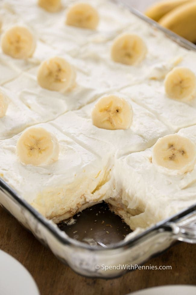 This pan of banana pudding is one of the best I've ever had! Homemade Banana Pudding is an old fashioned no bake recipe with layers of fresh bananas, a rich and creamy vanilla pudding layer and freshly whipped cream! This is the perfect make ahead dessert and a hit any time of year!