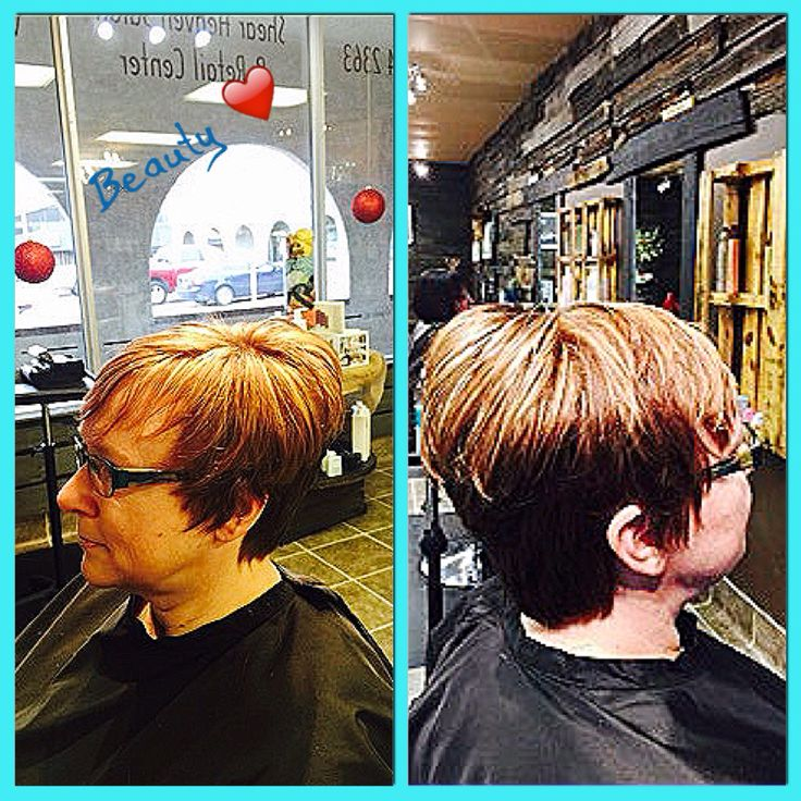 Cute short hair style with blonde highlights  Cut, coloured and styled by M.Spooner #ladieshair #highlights #perfect #shorthairstyles