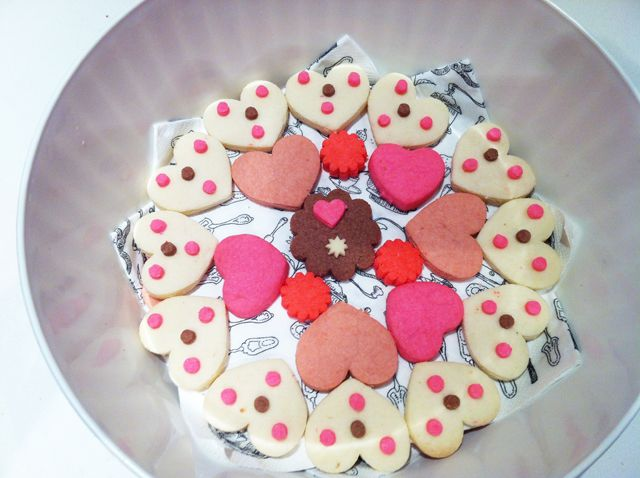 a little valentine cookies