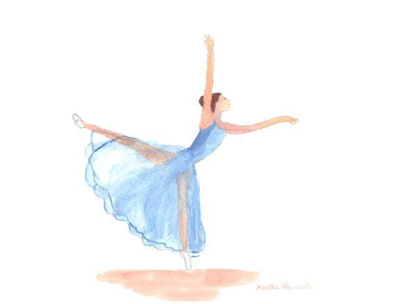 Ballerina aquarel schilderij.  Origineel schilderij, niet een afdruk.  Ballet art.  Dit is een originele aquarel schilderij op zure gratis 300 gsm aquarel papier. Dit is niet een afdrukken of reproductie.  Titel:: Ballerina  SIZE:: 12 x 9 (30 x 22 cm)  KLEUREN:: wit; geel; blauw; bruin  Dit schilderij is geschilderd en getekend door Monika Howarth (door mij) en ingelijste.  Gereed voor verzending binnen 1-2 dagen. Verzending naar Verenigde Staten, duurt Australië of Canada 5-7 werkdagen…