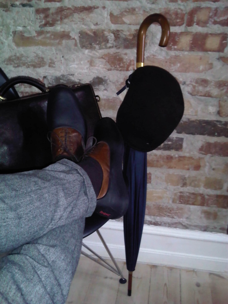 Me and my SWIMS galoshes on a rainy day in Copenhagen