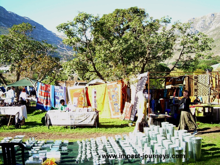 outdoor market at Hout Bay, South Africa