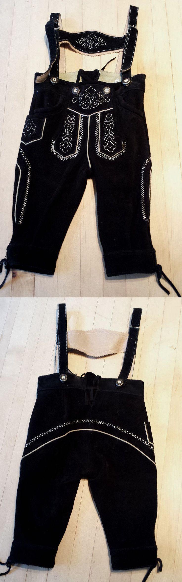 Lederhosen 163144: New Authentic German Boys Black Lederhosen Leather Pants With Suspenders -> BUY IT NOW ONLY: $44.99 on eBay!