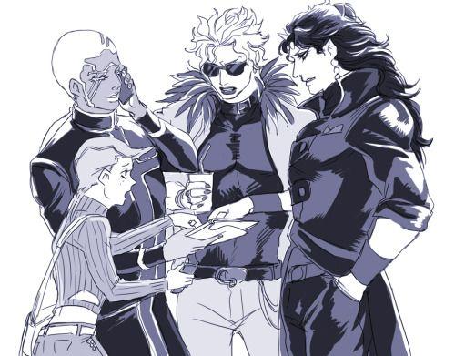 Diavolo, Pucci, DIO and Kars