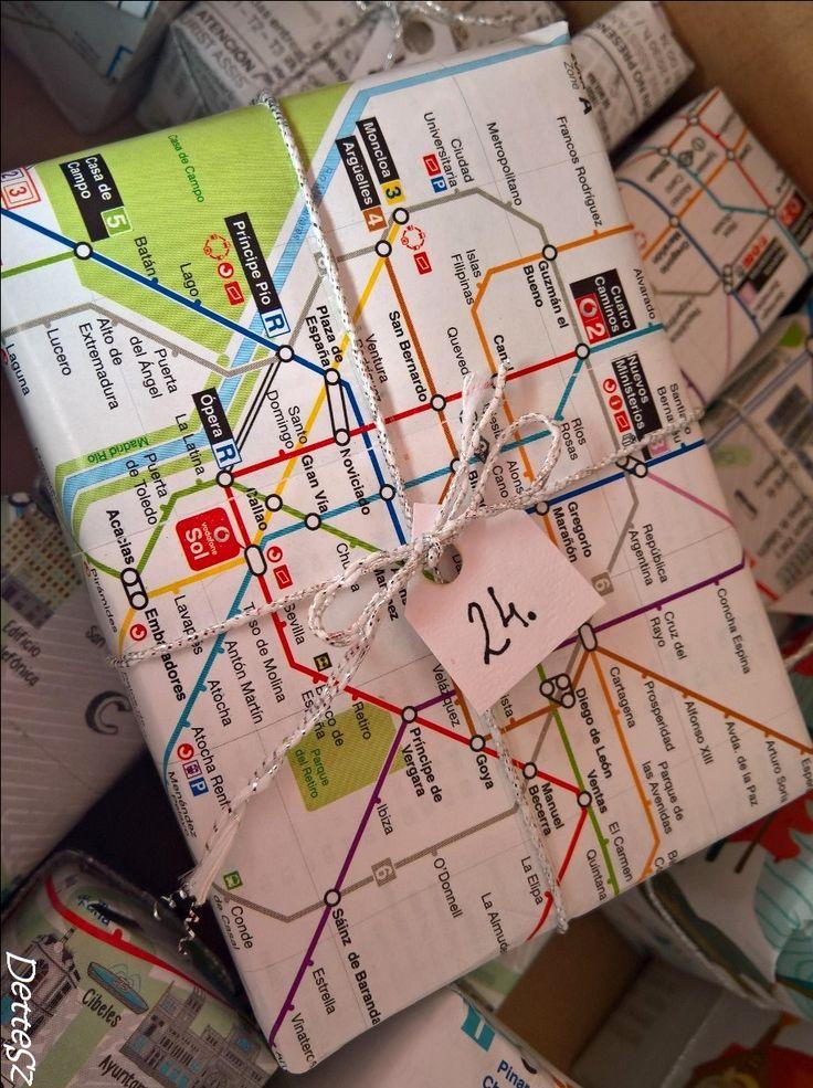 Advent Calendar, Madrid metro map