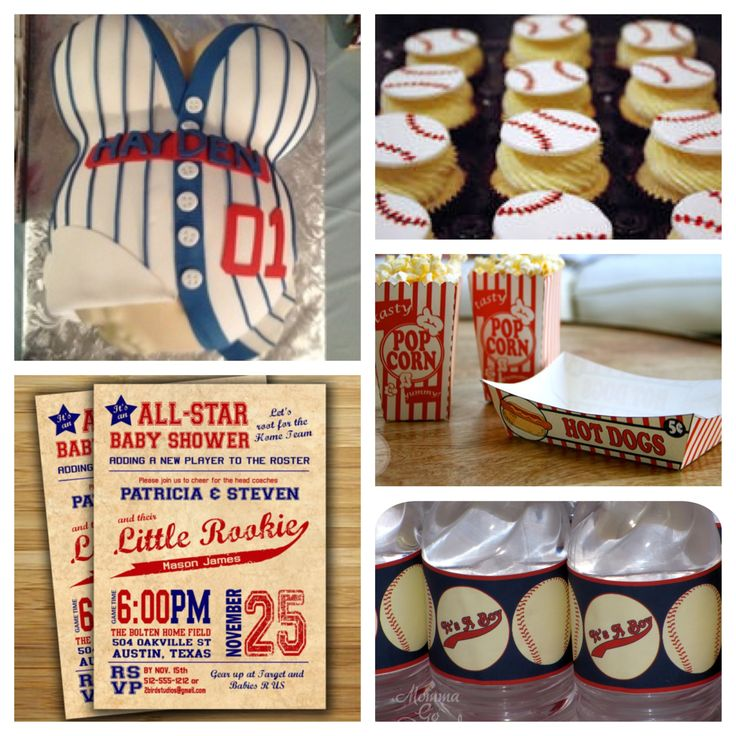 Delightful Baby Boy Baseball Themed Baby Shower