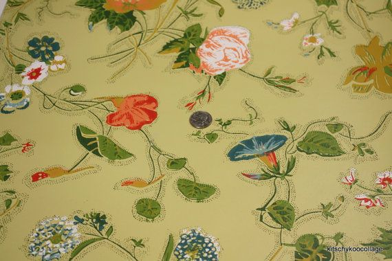 vintage wallpaper (kitschykoocollage etsy)