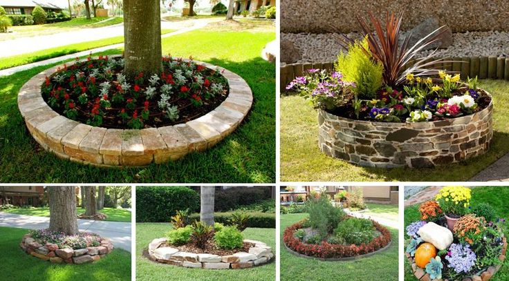183 best garden outdoor designs images on pinterest for Round flower bed ideas