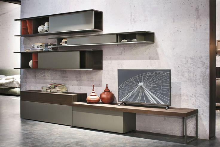 Parete attrezzata per il #soggiorno C136  gruppotomasella.it  Living Modern...