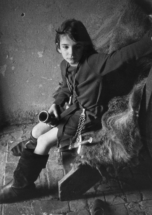 Kate Bush as a child, photographed by her brother John Carder Bush.