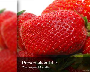 Free Strawberry PowerPoint Template is a healthy PPT template slide with red style that you can download for natural presentations and presentations on health topics #fruits #powerpoint #strawberry