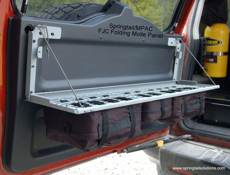 FJ Cruiser Rear Door Folding MOLLE Rack Combo   Springtail Solutions