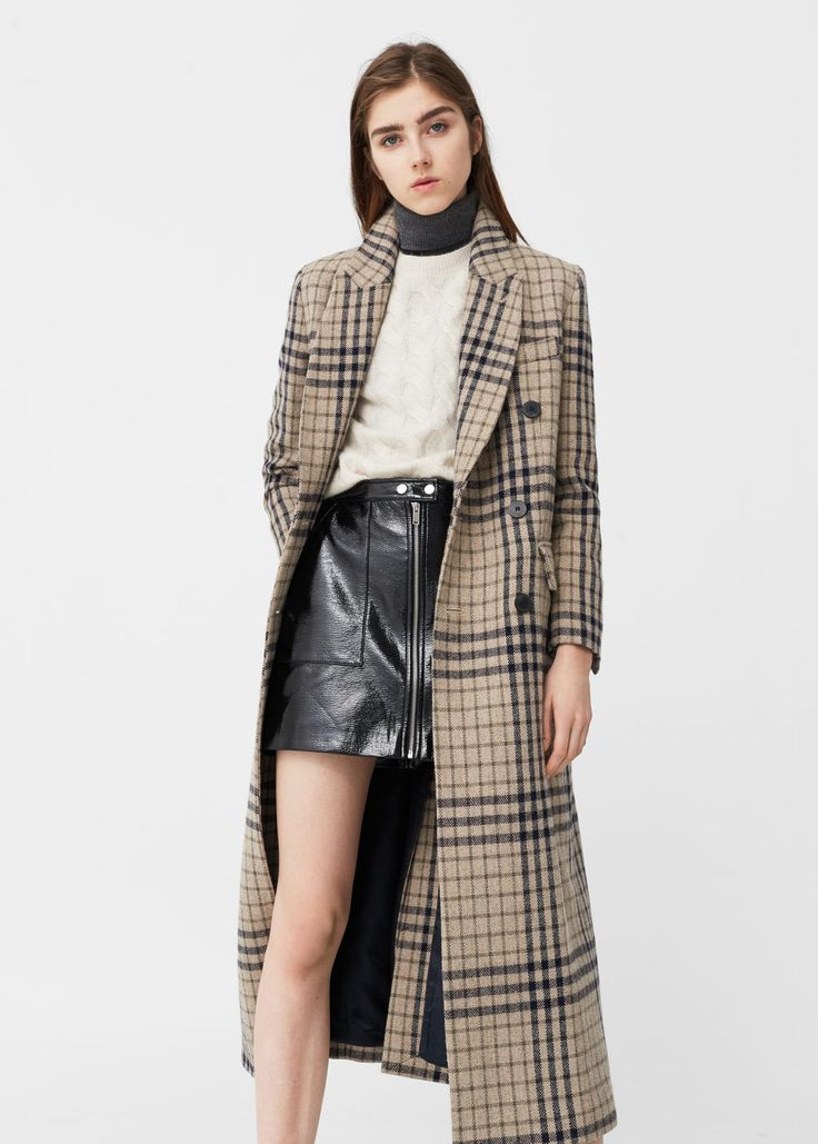 Like the entire outfit and all great prices! Check wool-blend coat • MANGO