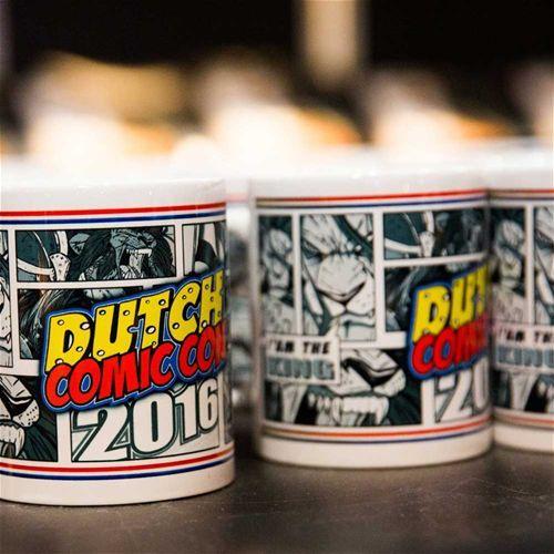 Dutch Comic Con merchandise logo mok 2016 multicolours - Dutch Comic Con