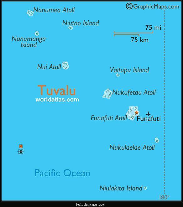 cool Tuvalu Map