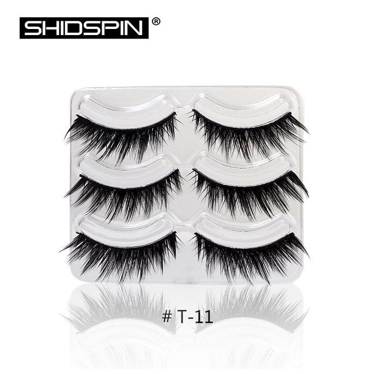 3 Pairs/lot Thick False Eyelashes Handmade Lashes Long Natural Eyebrow Extensions Kit Makeup Long Fake Eyelashes T11
