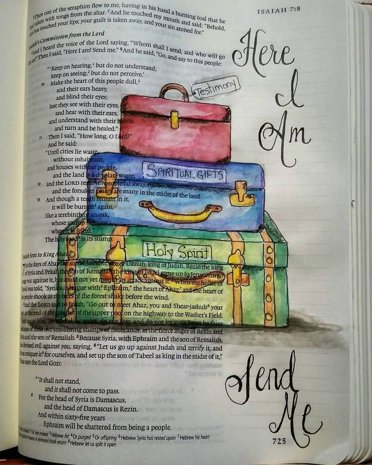 Isaiah 6:8  Equipped and willing: Here I am...send me.  #biblejournaling…