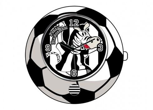 TIF8 OROLOGIO PALLA BIANCO/NERI  Orologio TIF8 da tavolo a forma di palla nei colori bianco/nero con all'interno del quadrante disegno del zebrotto.