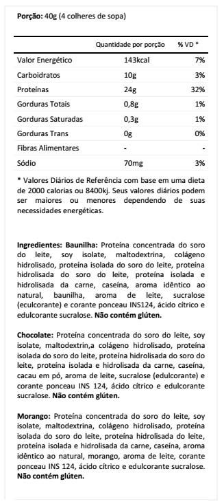 Kit com 5 Complete Protein (900g) - Red Series - Kit com 5 Complete Protein (900g) - Red Series Compre Online | Corpo Ideal