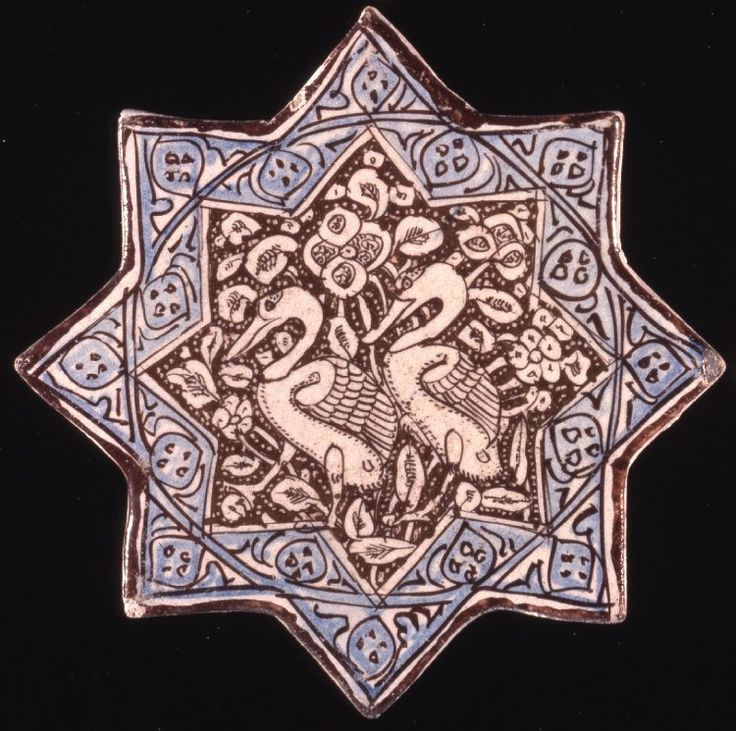 Eight-pointed star tile.