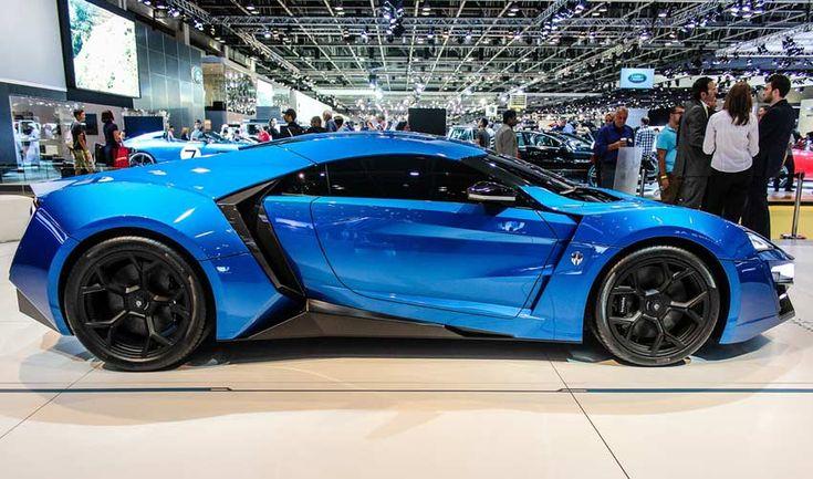 Blue Lykan Hypersport at Al Ain Class Motors in Dubai