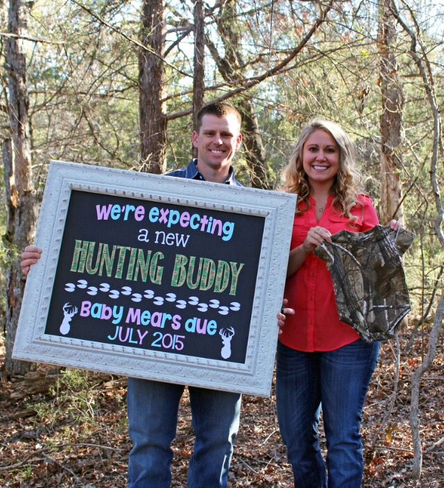 Pregnancy announcement Country, southern, hunting #babymears