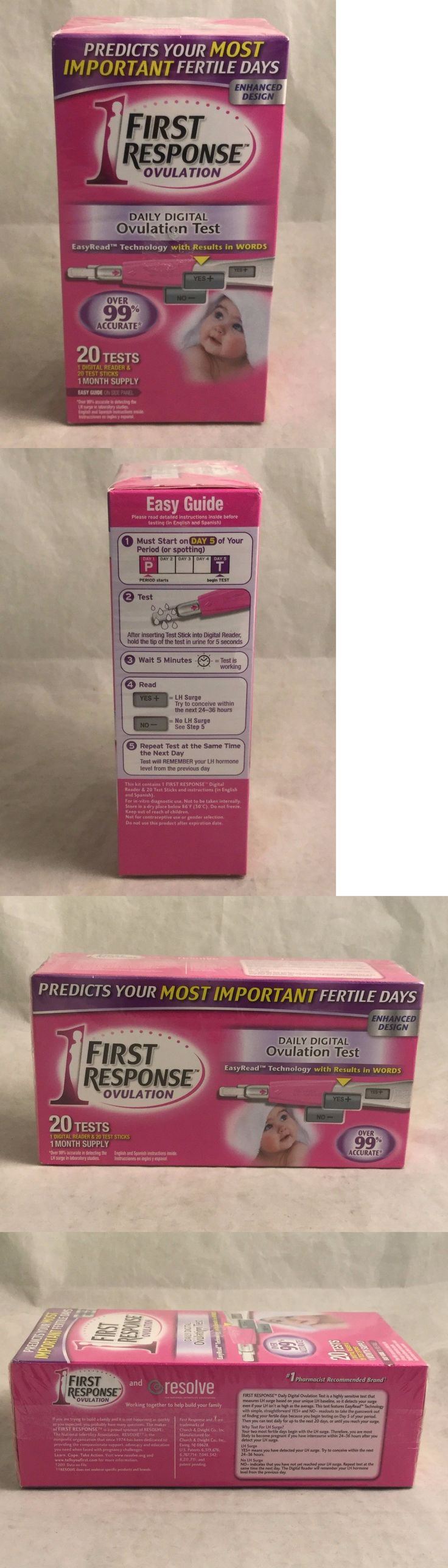 Fertility Monitors and OPKs: First Response Daily Digital Ovulation Test - 20 Count Exp 08/2017 BUY IT NOW ONLY: $30.5
