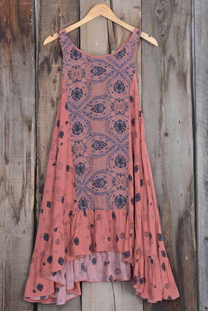 Cupshe Evil Eyes Ethnic Sleeveless Dress