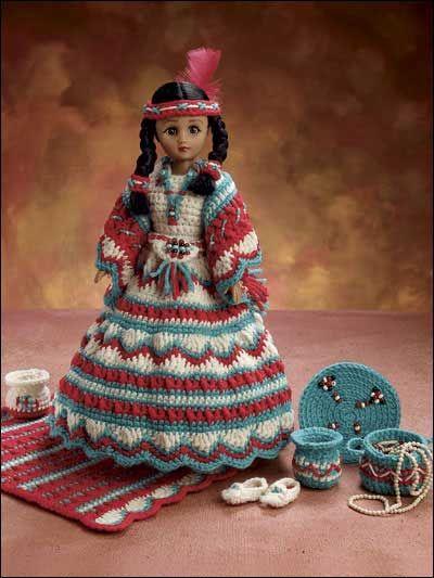 Indian Maiden Crochet Dolls Crochet Doll Dress Crochet