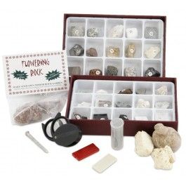 This science kit makes an excellent introduction to the world of rocks and minerals! The projects in this set provide hands-on fun for kids of all ages, as they get to identify 30 unique specimens, plus crack open a geode, grow crystals on a rock, make their own sedimentary rock, and much more. The instruction manual includes information on the rock cycle, crystal formations, and geodes. With 10 different projects, this kit is sure to provide hours of exploration. The projects will help kids…