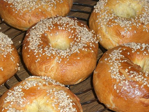 We made these today, sans sesame seeds.  It's the first time we've tried GF bagels -- I thought they were great!