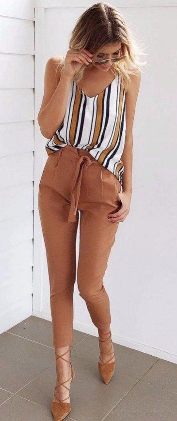 Como Combinar Un Pantalon Cafe Pantalon Cafe Mujer