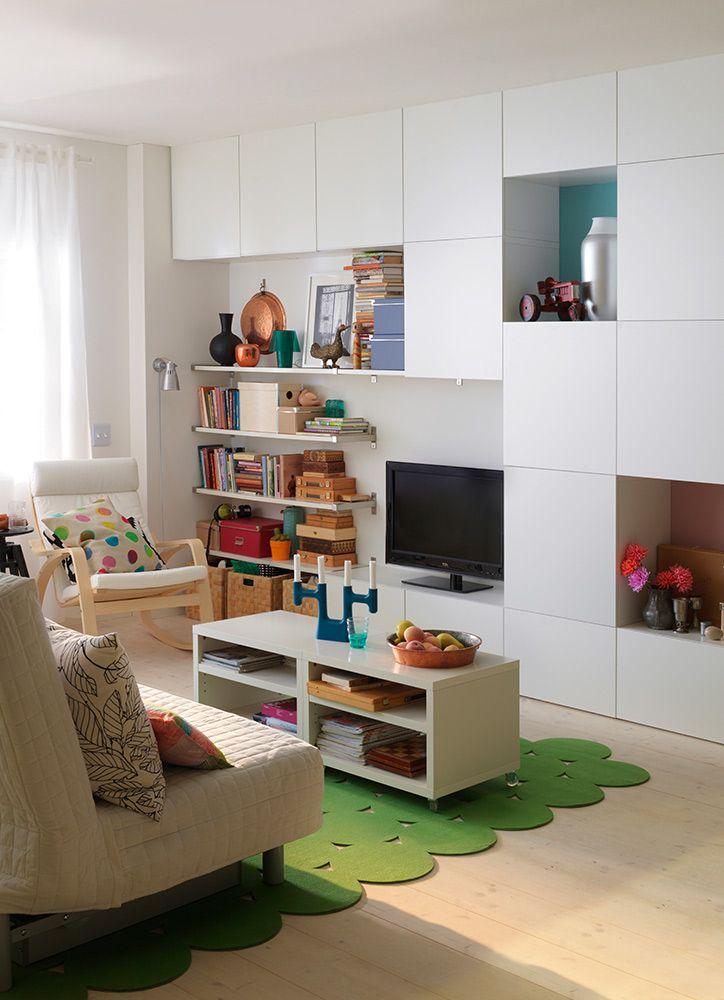 El Almacenaje Tambin Puede Ser Discreto Existen Soluciones Que Se Funden Con Entorno Ikea IdeasRoom