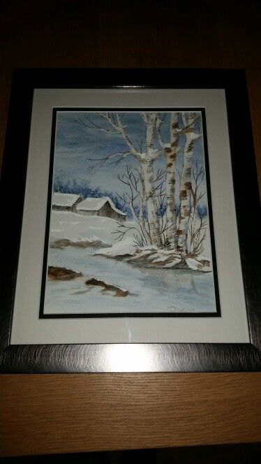 Snowy watercolour