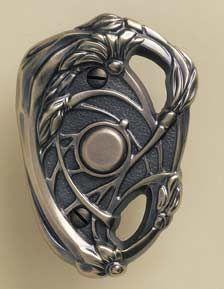 art nouveau door bell button